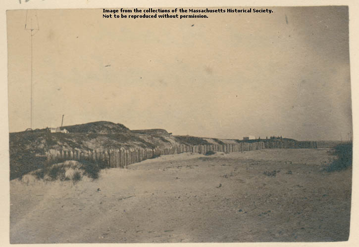 Photograph of the beach on Morris Island in front of Fort Wagner