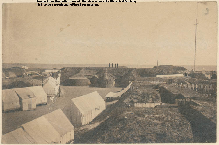 Photograph of an interior view of Fort Wagner