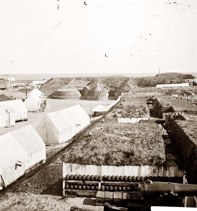 Photograph of another interior view of Fort Wagner